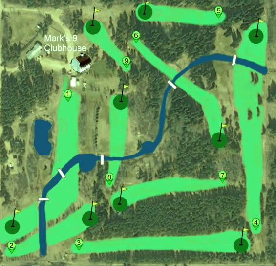 Marks Nine Golf Course Map